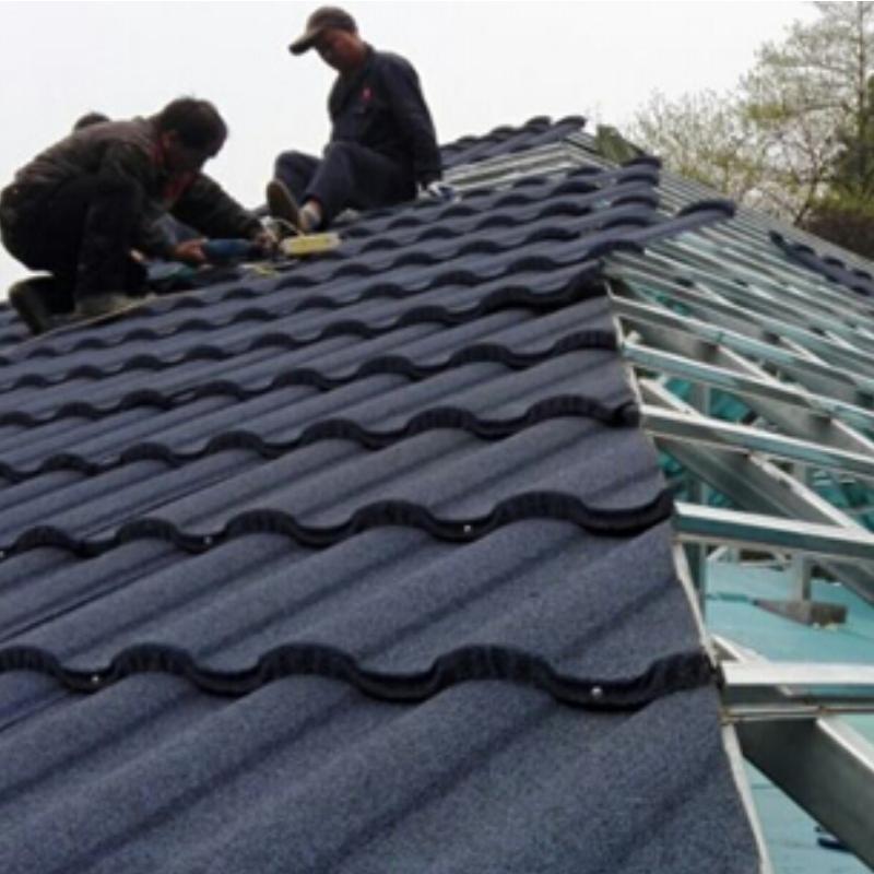 Installation method of colored stone metal tile manufacturer