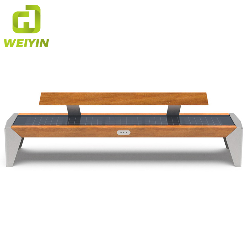 Customized Style Smart Solar Panle Public Leisure Bench for Outdoor Park Cell Phone Charging