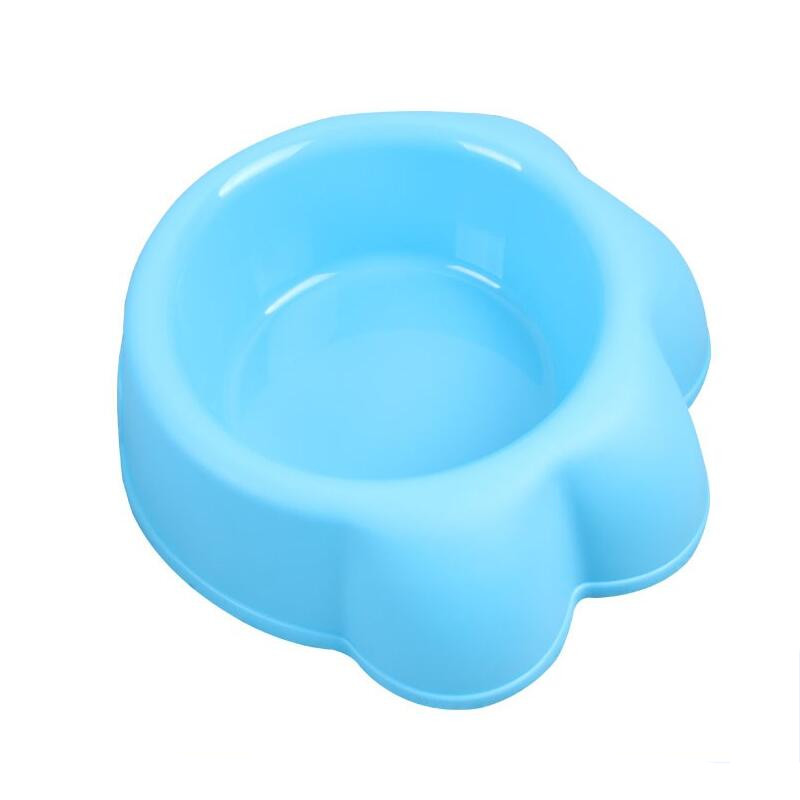 wholesale paw shaped feeder plastic travel outdoor indoor dog pet bowl