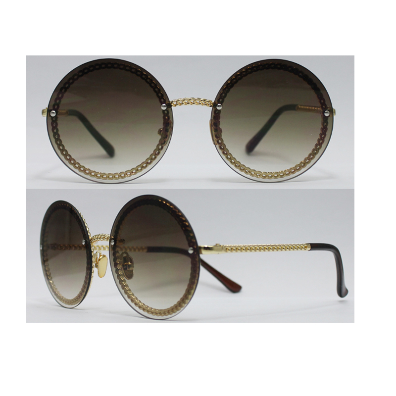 Unisex Metal Sunglasses with Metal Frame, UV 400 Protection Lens, OEM Orders are Welcome