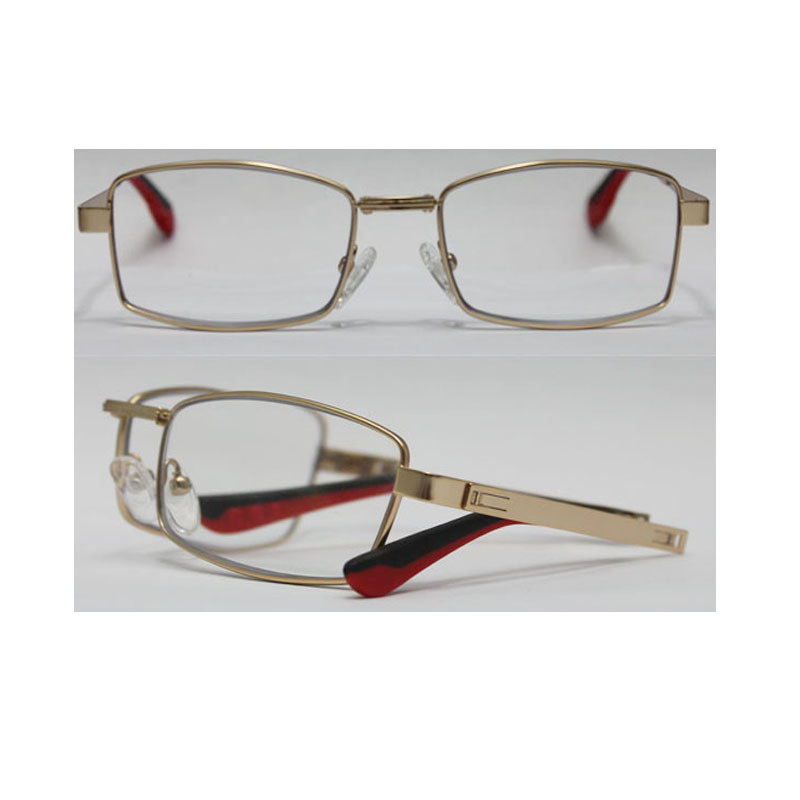 Unisex newest Style folding reading glasses with metal temples,AC lens, CE and FDA standards,