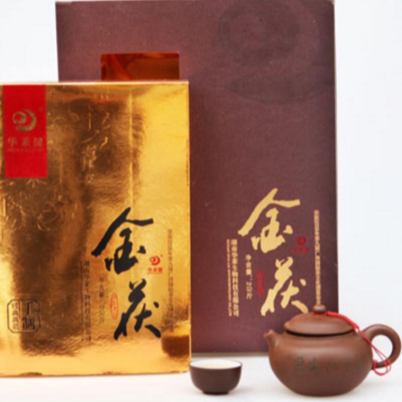 2000g gold fuzhuan hunan anhua black tea health care tea