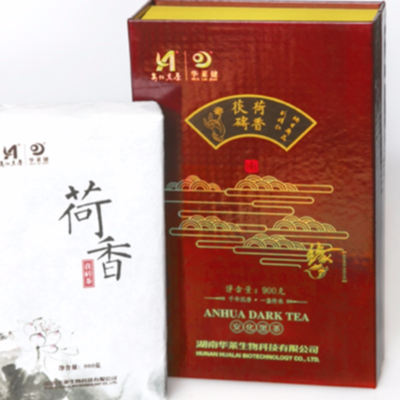 M sets lotus fragrant fuzhuan tea hunan anhua black tea health care tea