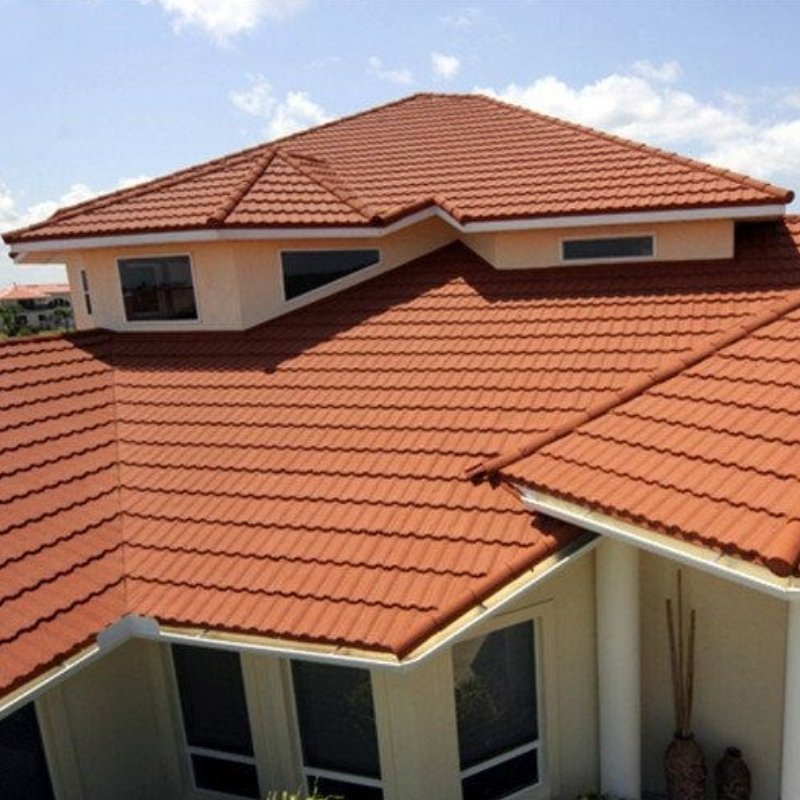 Building Material Stone Coated Metal Roof Tile, Stone Coated Corrugated Roofing Sheets