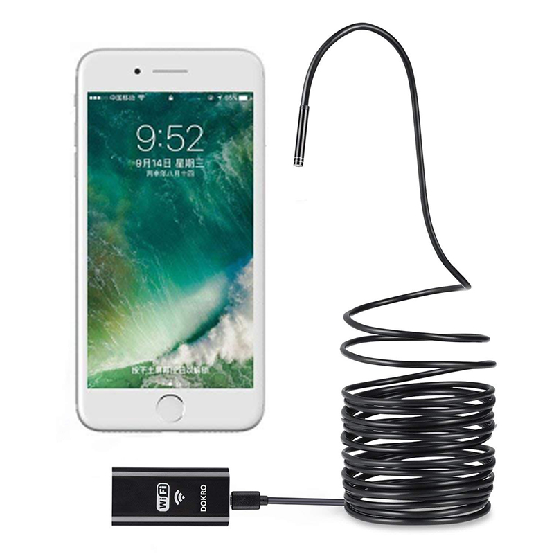 Wireless Endoscope 2.0 Megapixels HD WiFi Borescope Micro Interface Waterproof Inspection Snake Camerafor Android, iOS and Windows, iPhone, Samsung, Tablet, Mac