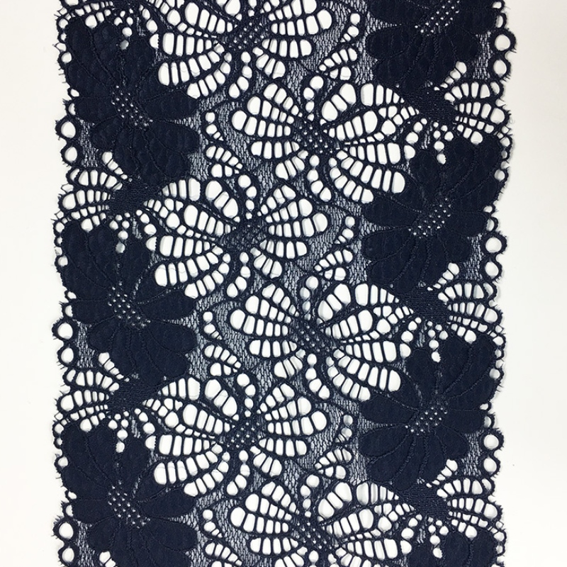 Nylon spandex elastic broad lace with 18CM wide for underwear or garments