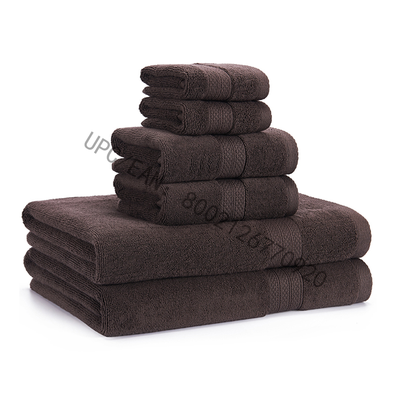 JMD TEXTILE Bathroom Towels Set, Combed Cotton Towels Gray Set of 6 Towels Kitchen Pool Household,Towels Durable Absorbent Comfortable Extra Large Towel(2 Washcloth,2 Hand Towels,2 Bath Towels)