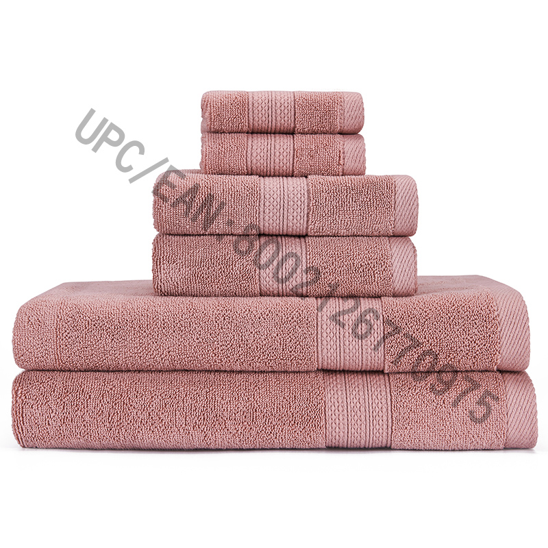 JMD TEXTILE Bathroom Towel Set, Towels Set of 6,2 Washcloth,2 Hand Towels,2 Bath Towels,Towels Household Towels Durable Absorbent Towel Comfortable Towels Cotton Extra Thick (Coffe, 6)