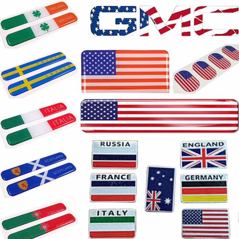 american flag domed sticker, emblem Car stickers