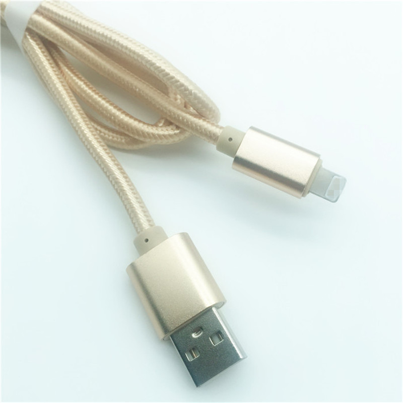 KPS-1005CB 8PIN Hot selling 1M nylon braided 2.4A  fast charging usb data cable