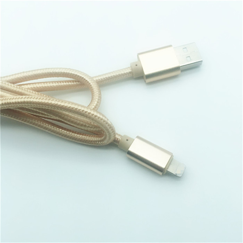 KPS-1005CB 8PIN 2M High quality nylon braided 2A  fast usb data cable for Iphone