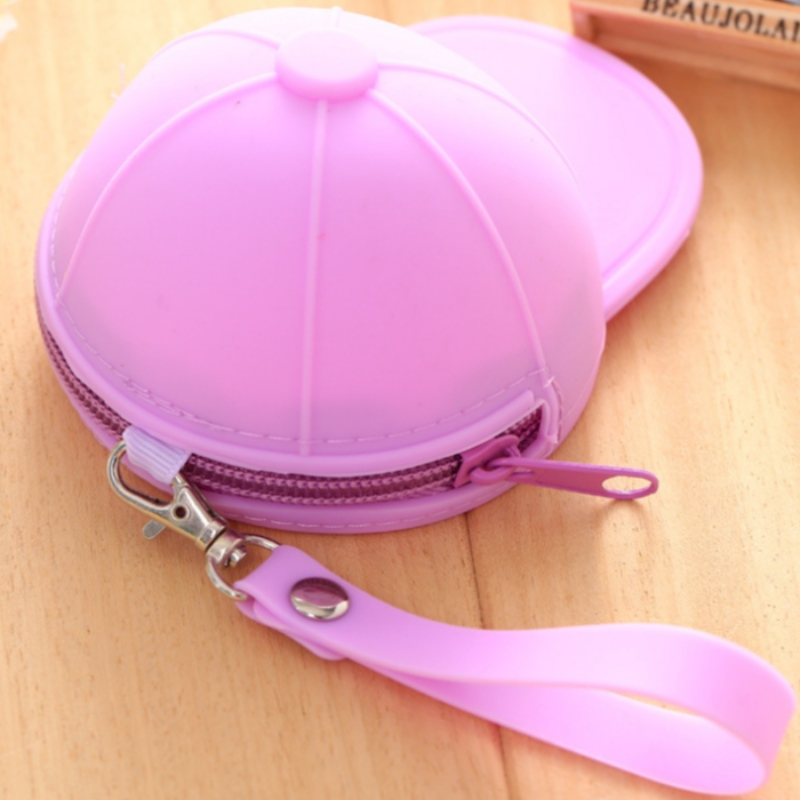 Silicone zero wallet baseball cap coin bag mini cute hat key bag silicone zero wallet hand bag