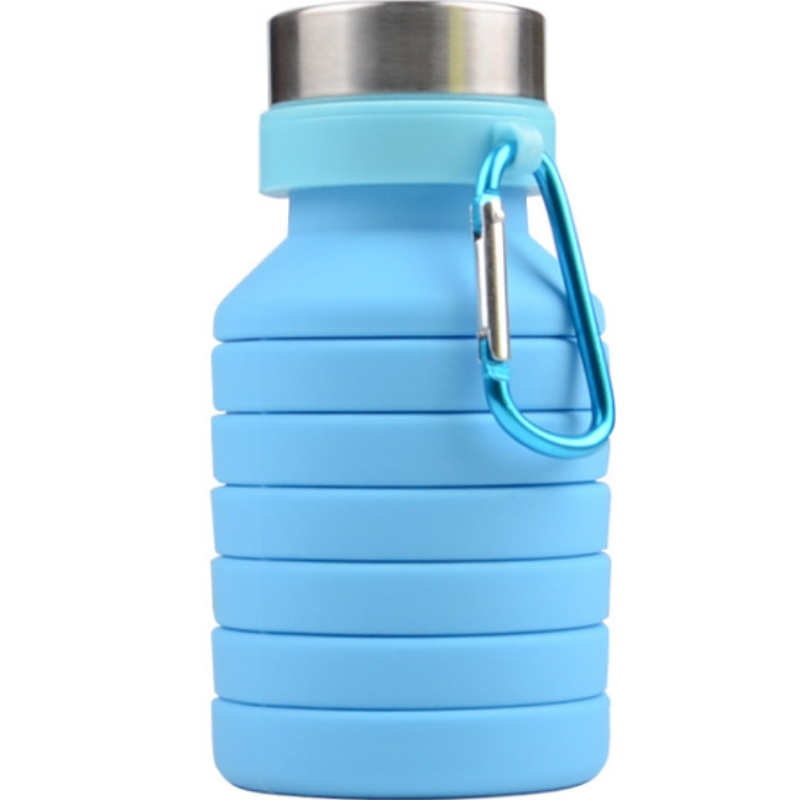 Silicone compressed cup fashion silicone sports kettle creative silicone telescopic cup can be customized logo