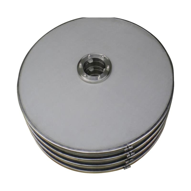 Metal mesh pressure filter plate used for recovery of precious metal catalyst