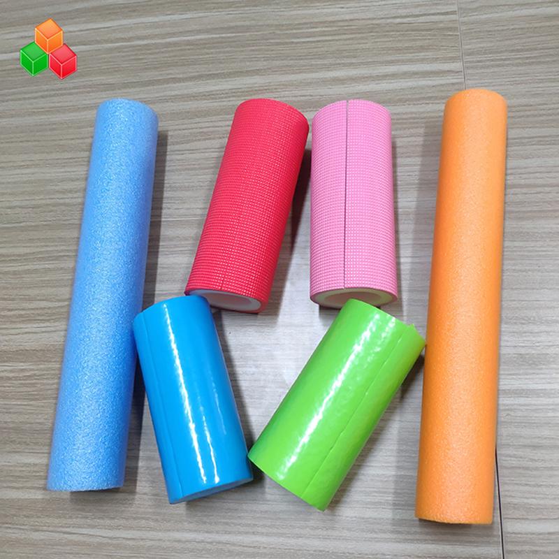 Custom shape logo color super soft hollow foam tubes PVC EVA EPE foam round tube for indoor playground equipment / packaging