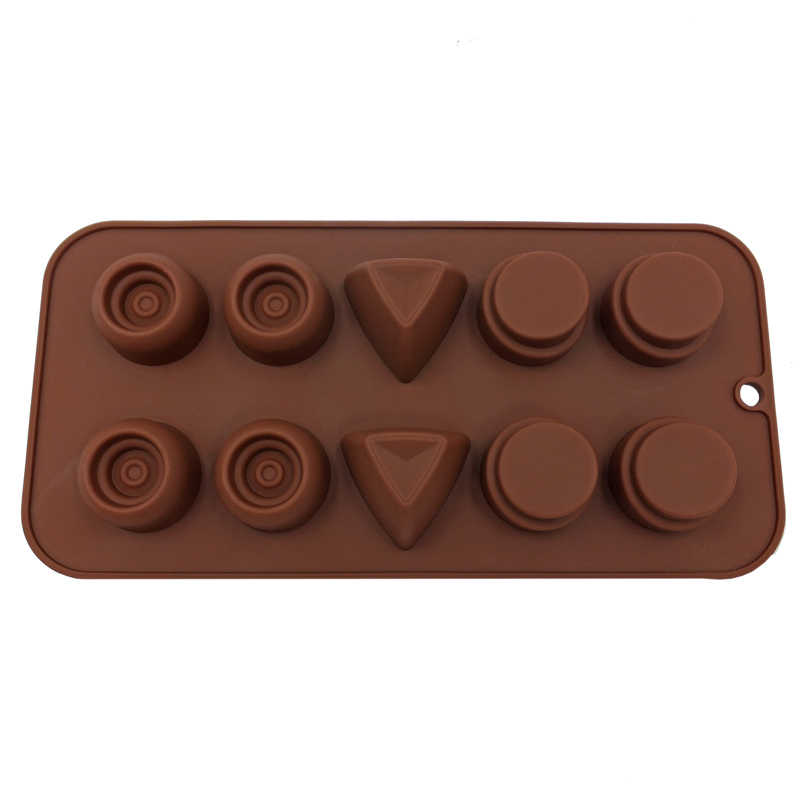 10 Cavities Silicone Chocolate Mold Chip Molds