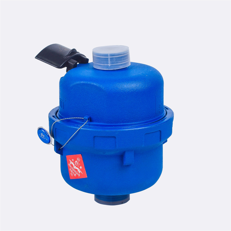 Volumetric liquid filled meter with plastic body with  remote cable