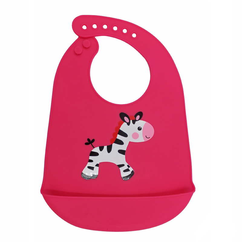 Easily Clean Waterproof Silicone Baby Bib With Food Catcher