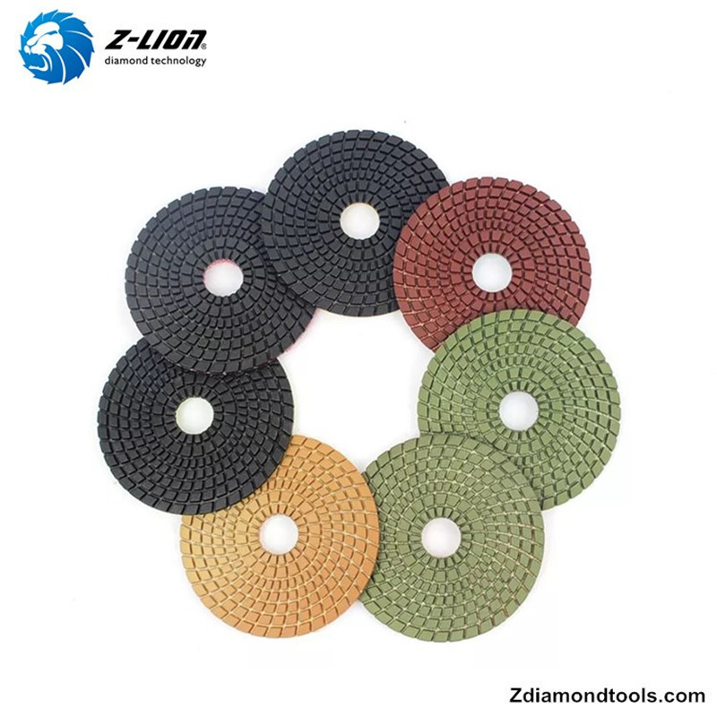 Z-LION ZL-123C Resin Wet Diamond Flexible Polishing Pads for Stone Projects