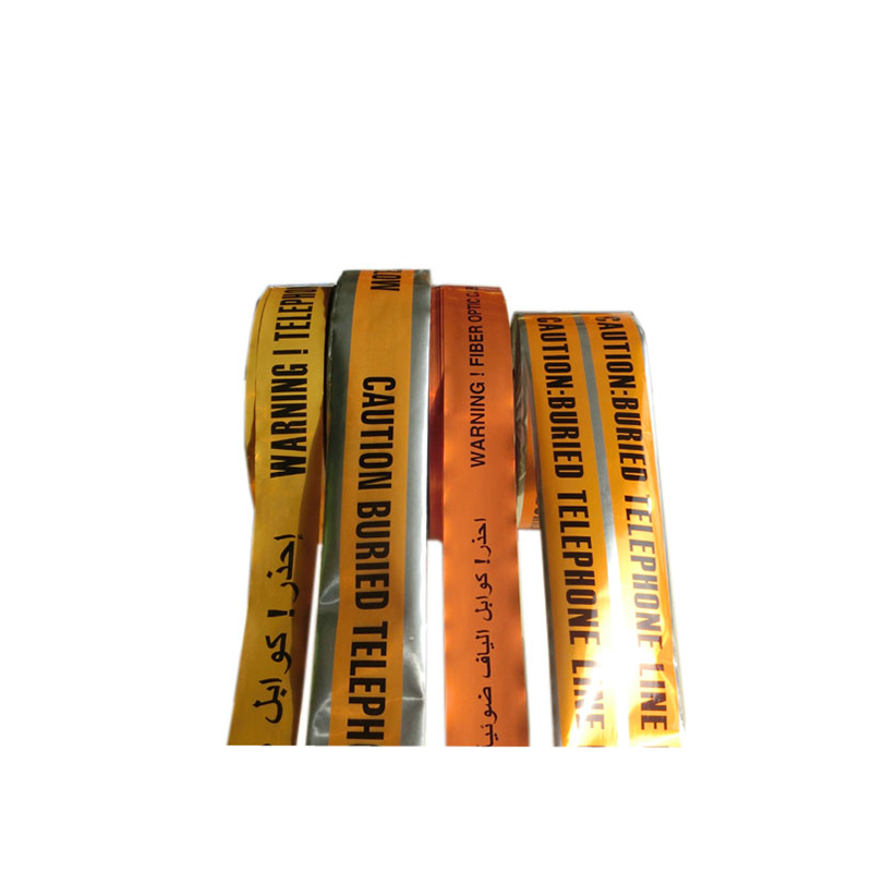 Manufacturer high quality per cut PVC barricade underground detectable cable warning aluminium foil tape