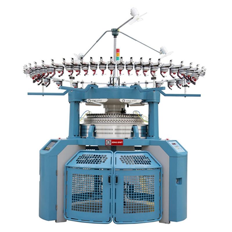 Fully computerized interlock rib circular knitting machine