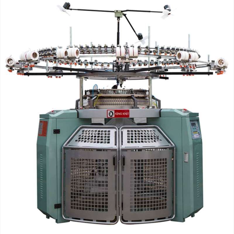 High speed 4 track jacquard body size single jersey circular knitting machine