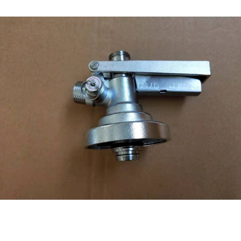Type F keg coupler with pressure release valve