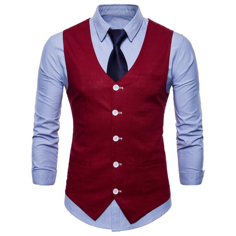 100% Polyester Woven Vest / Waistcoats