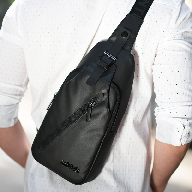 New Men's Bag Fashionable Waterproof Oxford Single Shoulder Bag Student's Breast Bag Distribution Explosive Slant Bag
