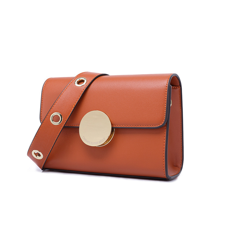 Women's New Type of Button, Small Square Pack, One Shoulder Slant Pu Bag Factory Direct Selling One Wholesale