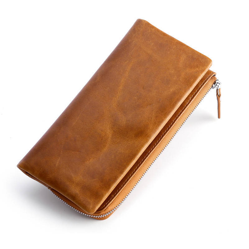 2019 Fashion New Multifunctional Card Bag Head Dermis Long Men's Business Wallet Bank Card Retro Men's Bag