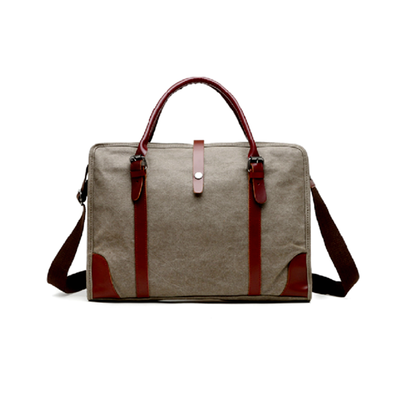 Canvas shoulder bag-18011