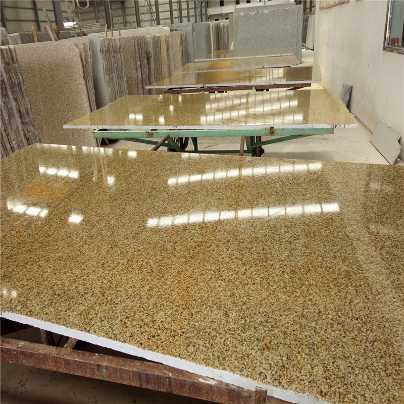 G682  misty rust yellow granite slab