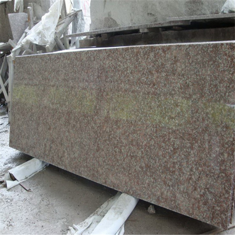G687 peach red granite slab flooring tiles