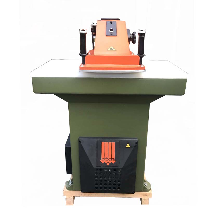 used rebuilt ATOM cutting press machine for leather shoes and bags