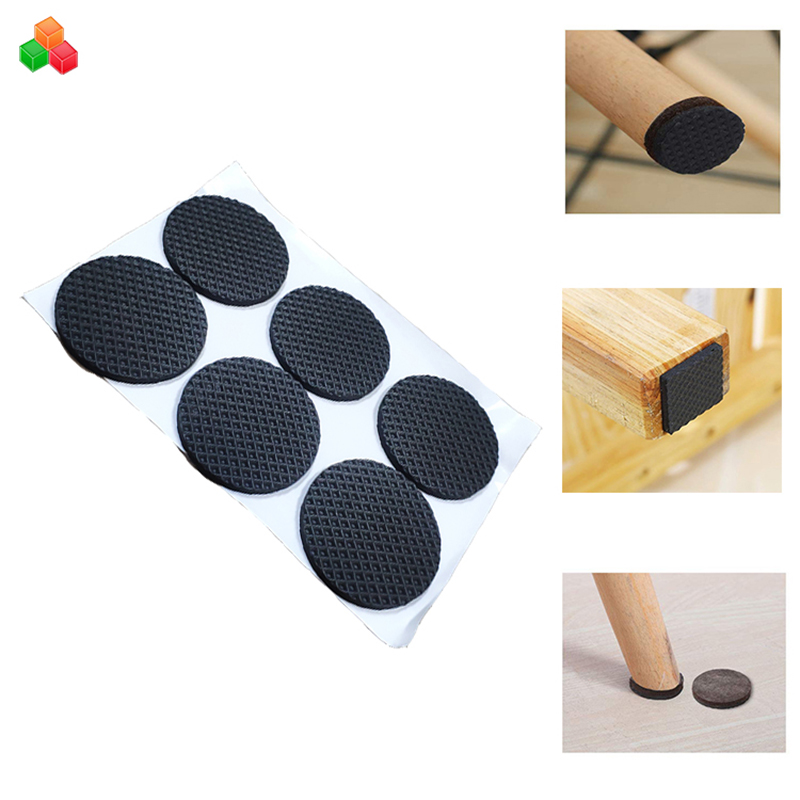 Dongguan designed size self adhesive rubber furniture table leg feet protector pad eva foam chair leg glides protector
