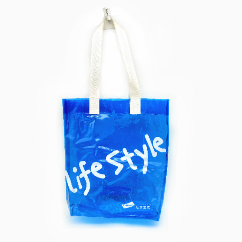 bule pvc shopping bag