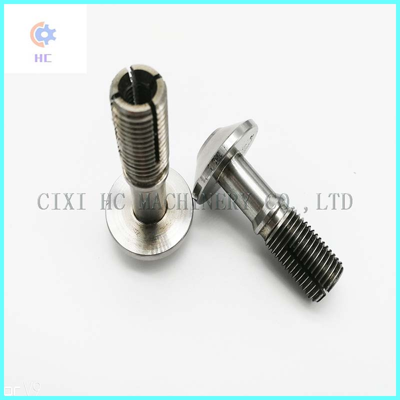 Customed Precision CNC Machining Double Slots Through Hole Bolt Screw Nut