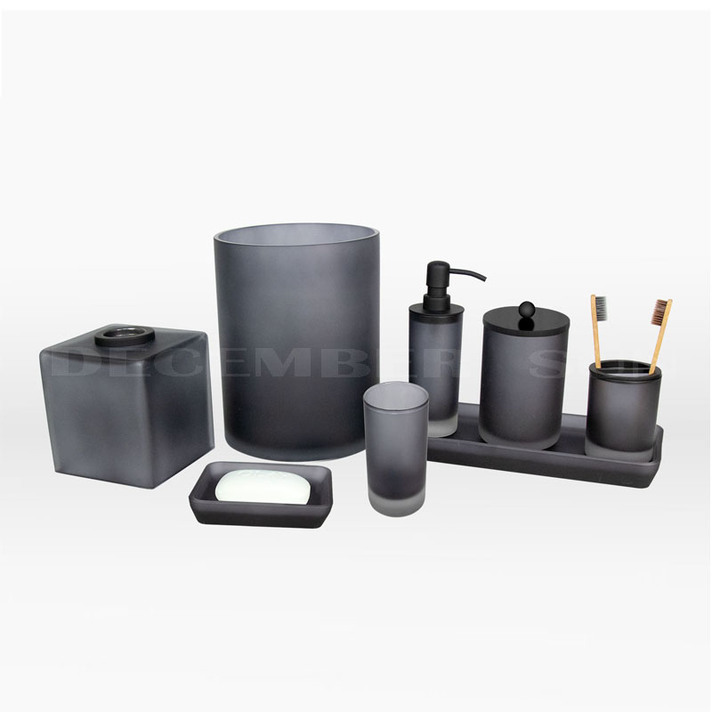 Evident effect frost Glass bathroom accessories sets