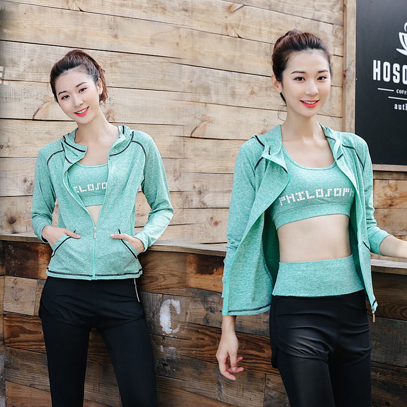 FDMF001- Women's 5pcs Sport Suits Fitness Yoga Running Athletic Tracksuits