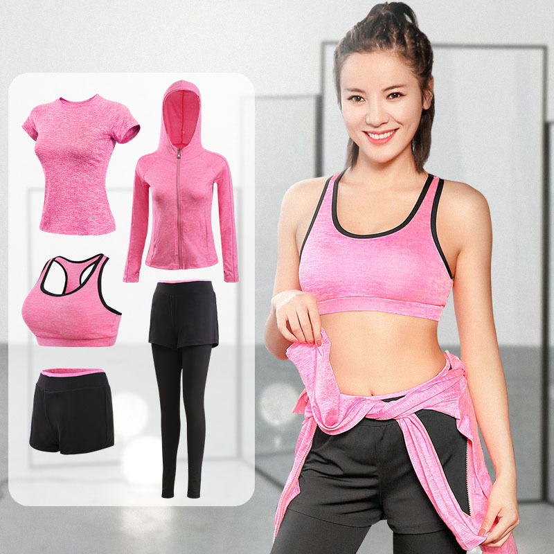 FDMF006- Women's 5pcs Sport Suits Fitness Yoga Running Athletic Tracksuits