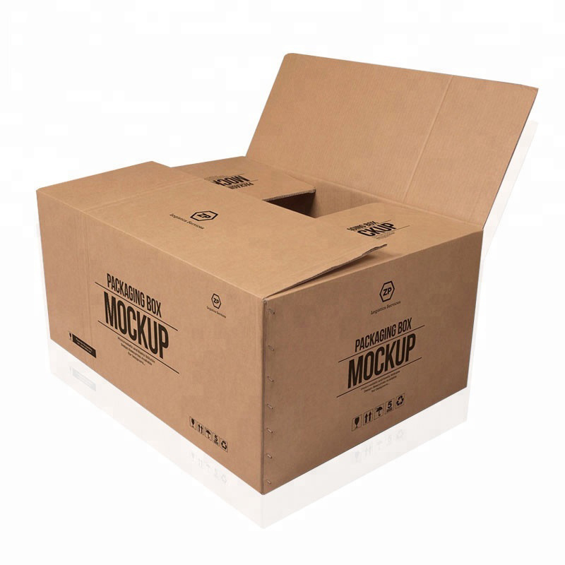 Hot selling custom large 5 layers logo brand printed kraft paper shipping delivery big carton box