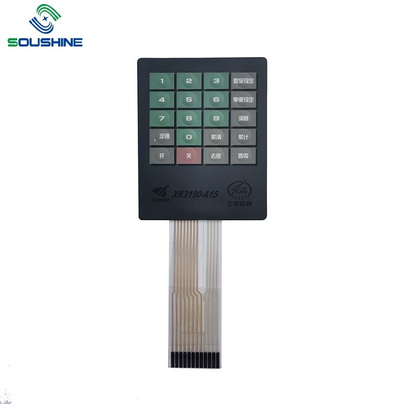 Custom membrane switch/keypad of scales