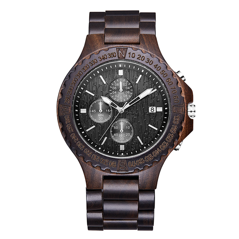 Male Female Bangle Wrist Clock Simple Sport Wood Watch