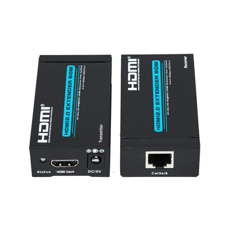 V2.0 HDMI extender 60m Over single cat5e/6 cable support Ultra HD 4Kx2K@60Hz HDCP2.2