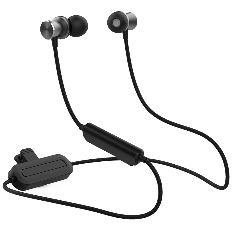 High capacity 180mAh battery metal stereo wireless earphone