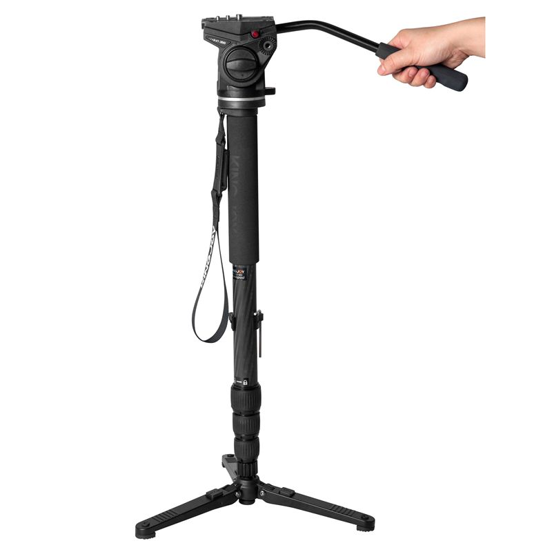 Kingjoy Aluminum extendable monopod with mini tripod base
