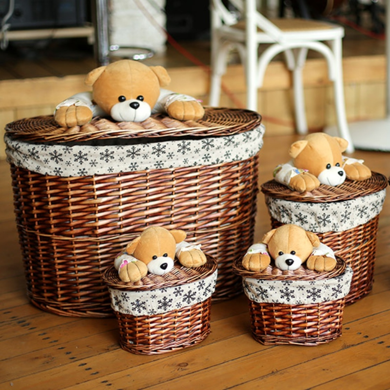 Willow Laundry Basket with Lid