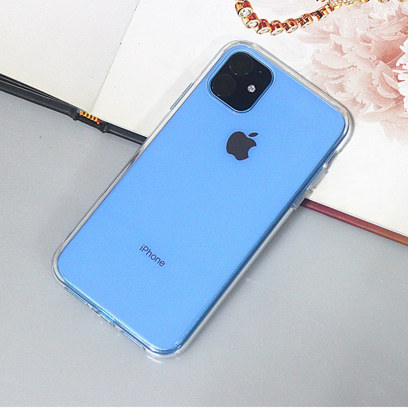 Highly transparent TPU+ PC smart phone case for iPhone 11 series of 5.8 inch/6.1 inch/6.5 inch