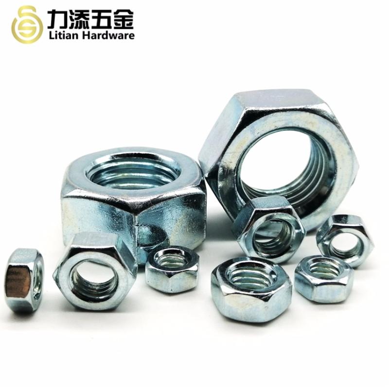 High quality carbon steel galvanized M3 M4 M5 hex nut